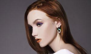 长发浓妆美女模特人物摄影高清图片