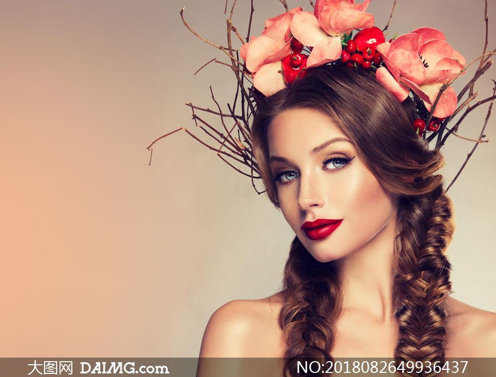 关 键 词: 高清摄影大图图片素材人物美女女人女性写真模特长发秀发