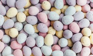 多种颜色的鹅卵石背景主题高清图片