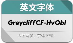 GreycliffCF-HeavyObli(英文字体)