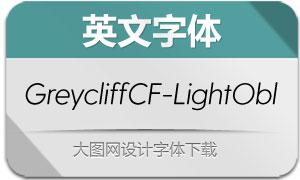 GreycliffCF-LightObl(英文字体)