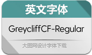 GreycliffCF-Regular(英文字体)