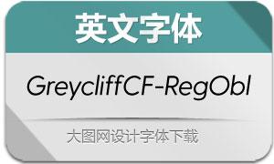 GreycliffCF-RegularObl(英文字体)