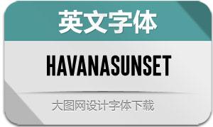 HavanaSunsetSans(英文字体)