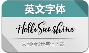 HelloSunshine(英文字体)