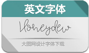 Honeydew(英文字体)