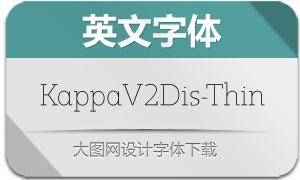 KappaVol2Disp-Thin(英文字体)