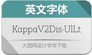 KappaVol2Disp-UlLt(英文字体)