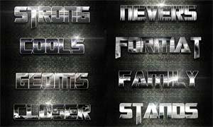 10款暗色金属艺术字设计PS样式