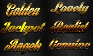 黄金质感艺术字设计PS样式