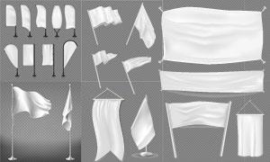 多場景適用的旗幟橫幅元素矢量素材