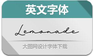 Lemonade(连笔效果英文字体)