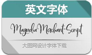 MagnoliaMerchant-Script(英文字体)