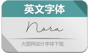 Nora(英文字体)