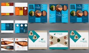 简洁配色画册页面版式设计矢量素材