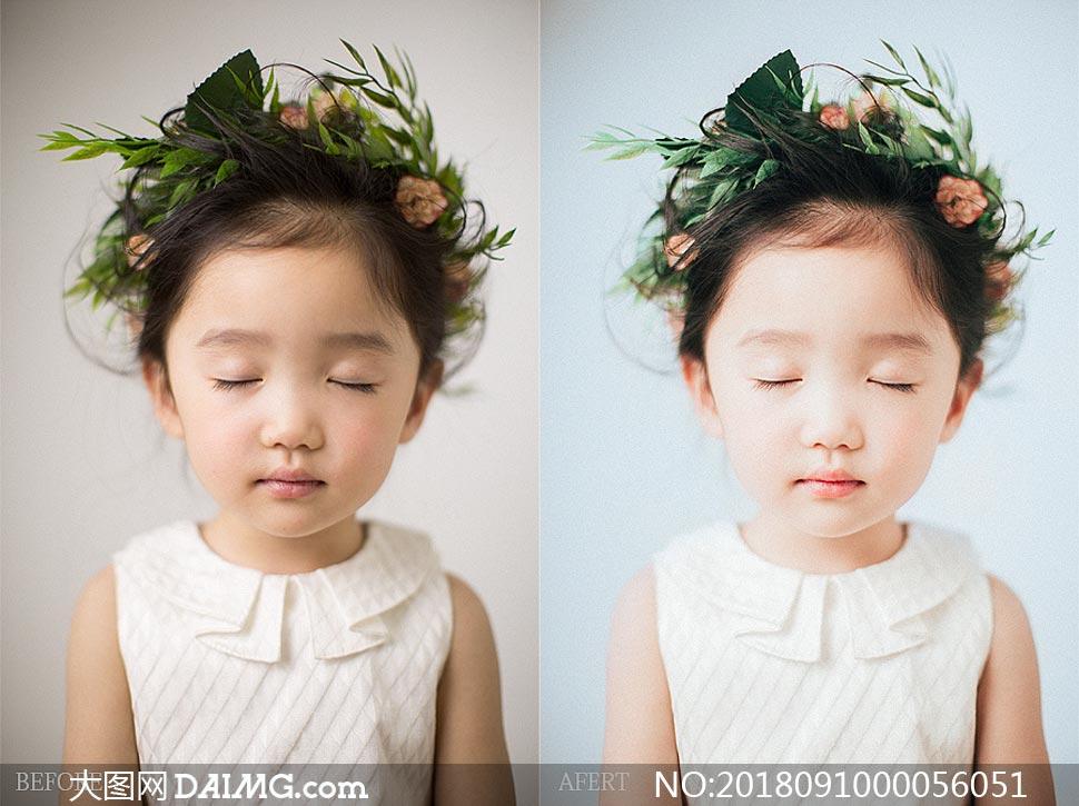 儿童照片复古胶片效果PS教程素材