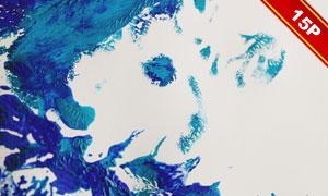 多款水彩颜料元素纹理图片集合V04