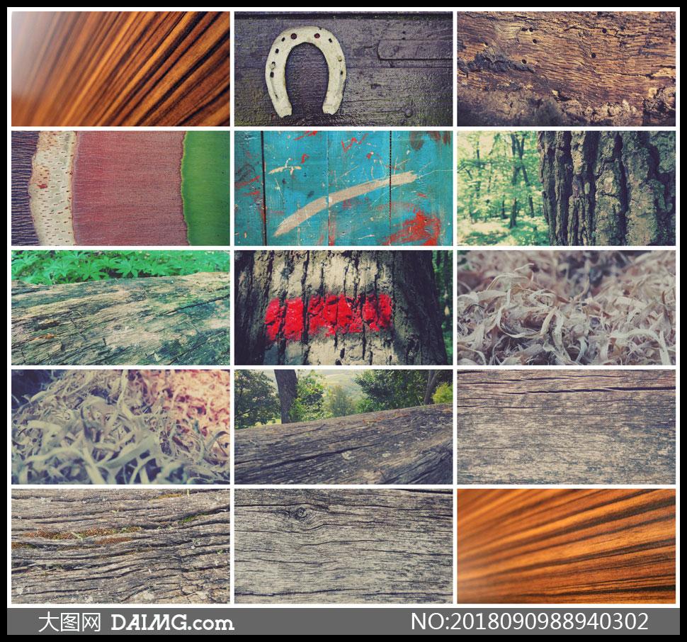 各式各样的木质纹理背景高清图片V02