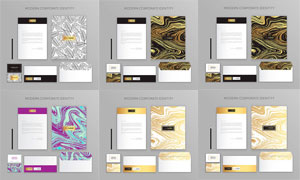 信封等圖案企業視覺元素矢量素材V05