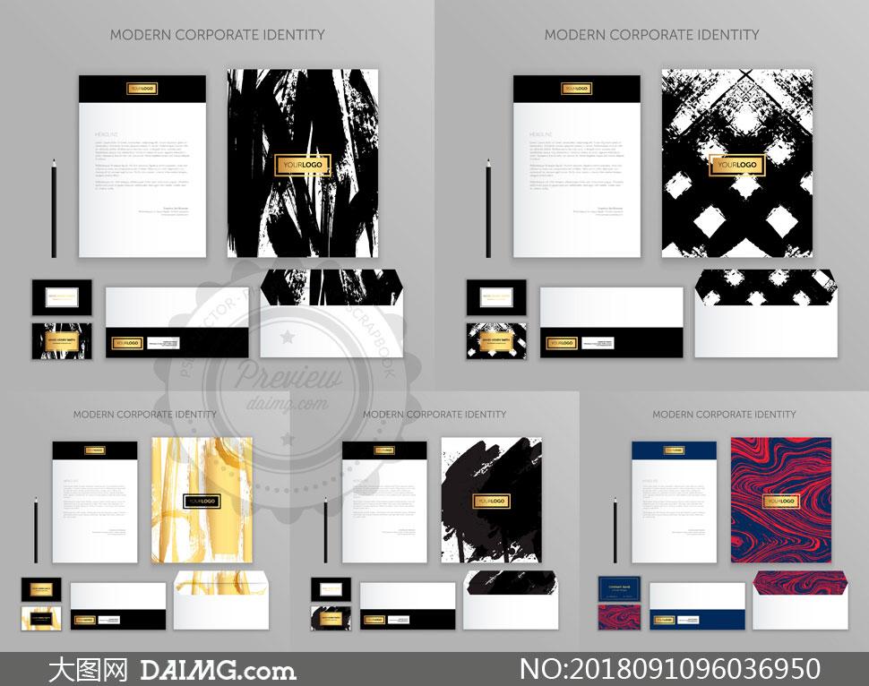 信封等图案企业视觉元素矢量素材V06