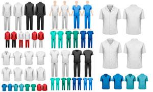 廚師與醫護工作者服裝設計矢量素材