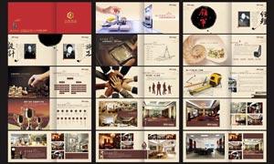 高档装饰公司画册设计模板矢量素材