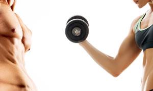 减肥瘦身男女人物特写摄影高清图片