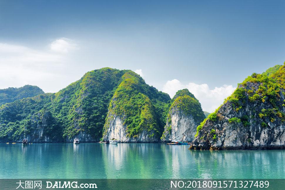 蓝天白云山水风光美景摄影高清图片