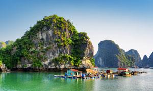 越南的下龙湾景区自然景观高清图片