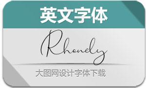 Rhonely(英文字体)