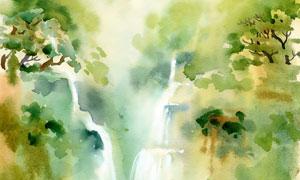树木瀑布风光主题绘画创意 澳门线上必赢赌场