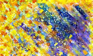 五颜六色水彩喷溅抽象创意高清图片