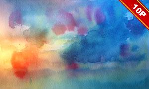 五彩缤纷水彩背景系列高清图片集V01