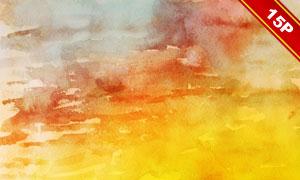 五彩缤纷水彩背景系列高清图片集V05