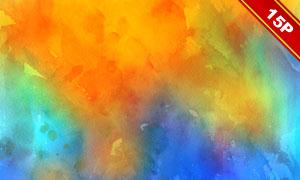 五彩缤纷水彩背景系列高清图片集V06