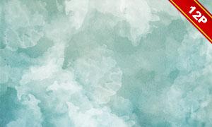 绿色与灰色水彩风纹理背景高清图片