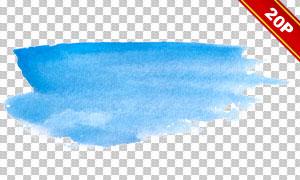 水彩笔触元素免抠图片素材集合V06