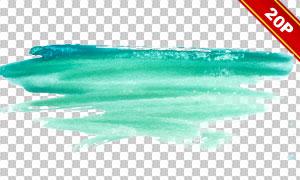 水彩笔触元素免抠图片素材集合V14