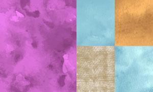 水彩效果纹理背景创意矢量素材集V01