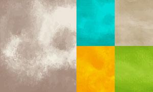水彩效果纹理背景创意矢量素材集V03