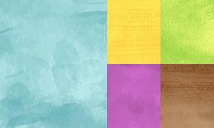 水彩效果纹理背景创意矢量素材集V04