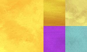 水彩效果纹理背景创意矢量素材集V05