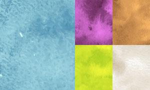 水彩效果纹理背景创意矢量素材集V06