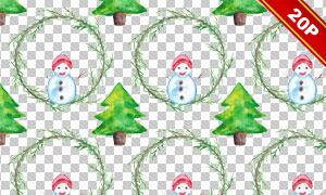 冬日圣诞节等主题免抠无缝背景图片