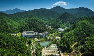 法水温泉旅游全景摄影图片