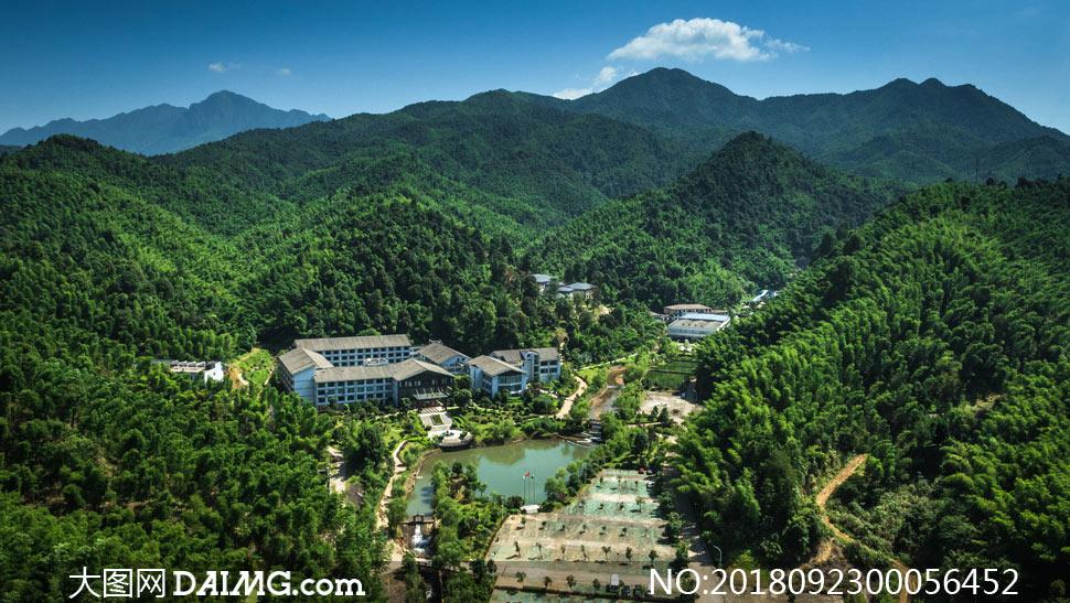 法水溫泉旅游全景攝影圖片