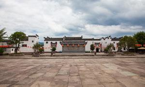 唐模古镇徽派建筑摄影图片