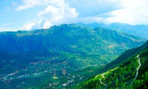 康定山间美丽的风光摄影图片