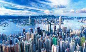香港维多利亚港全景摄影图片素材
