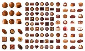 多种口味的质感巧克力主题矢量素材